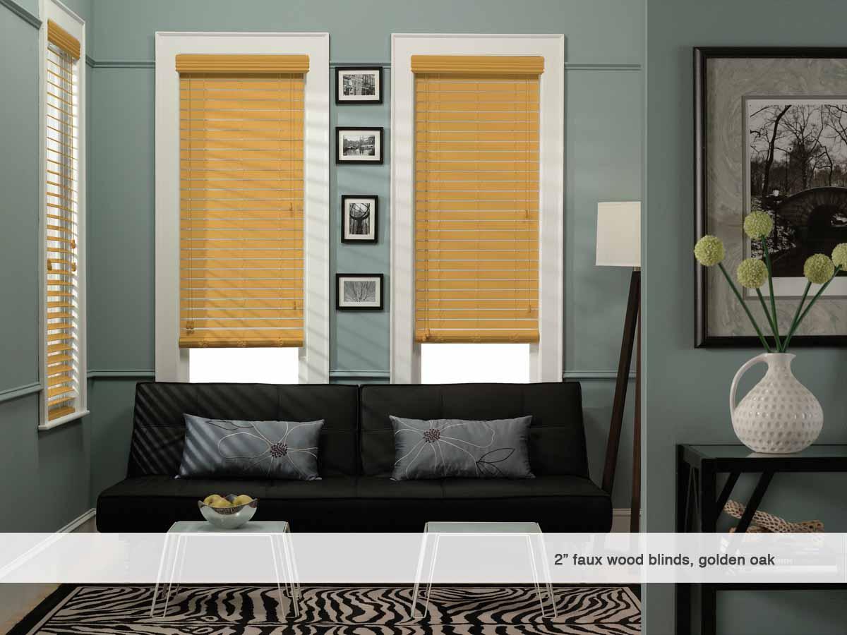 phase ii 2 inch faux wood blinds phase ii. Black Bedroom Furniture Sets. Home Design Ideas