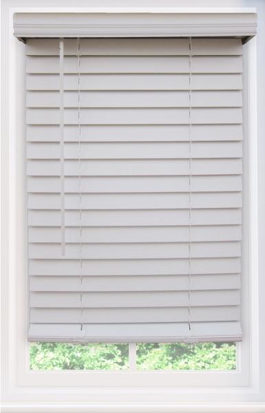 Cordless Faux Wood Window