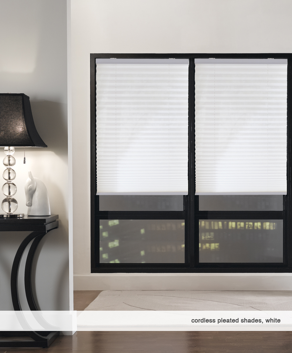 2-Cordless Pleated Shade-white