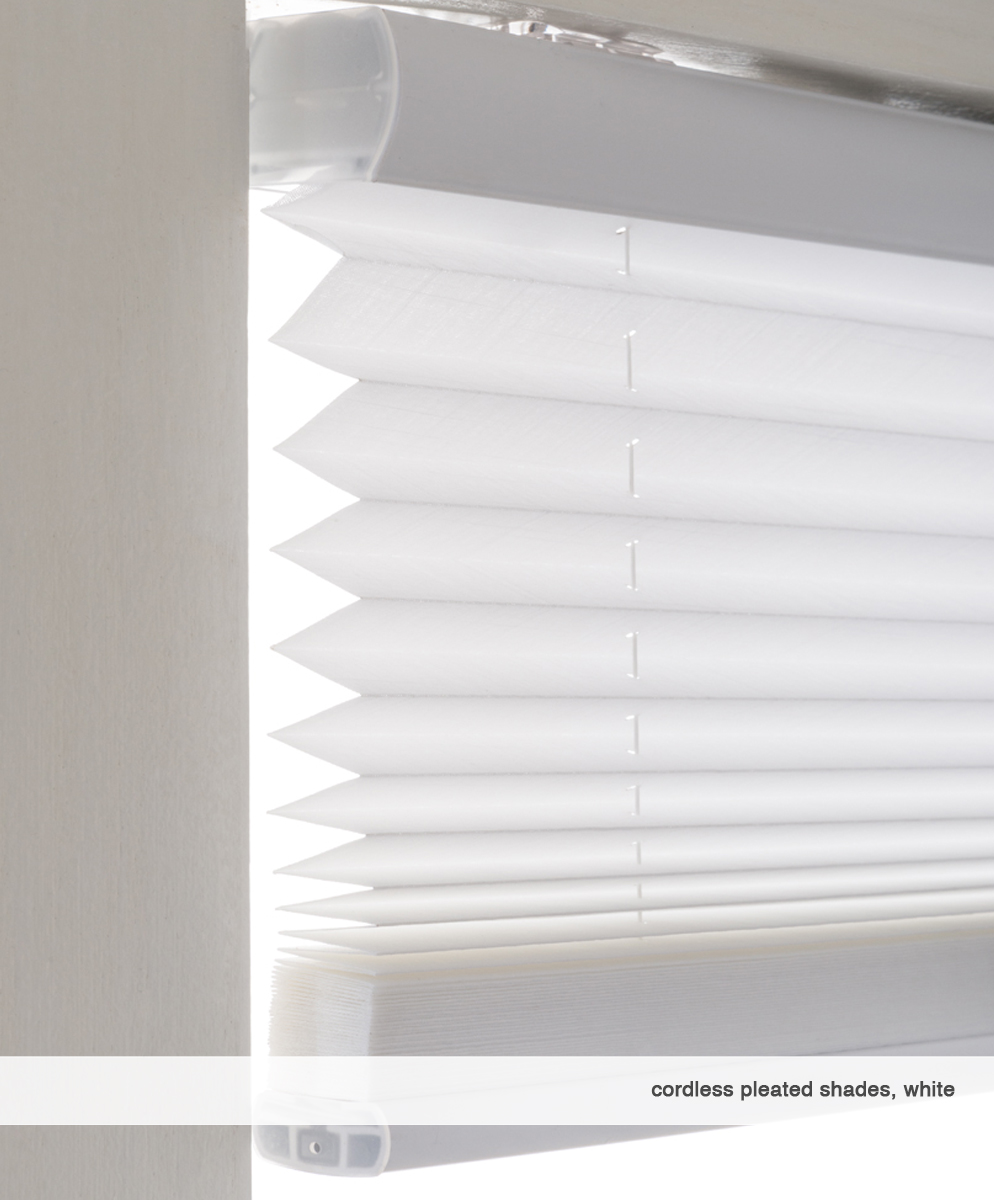 3-Cordless Pleated Shade-white