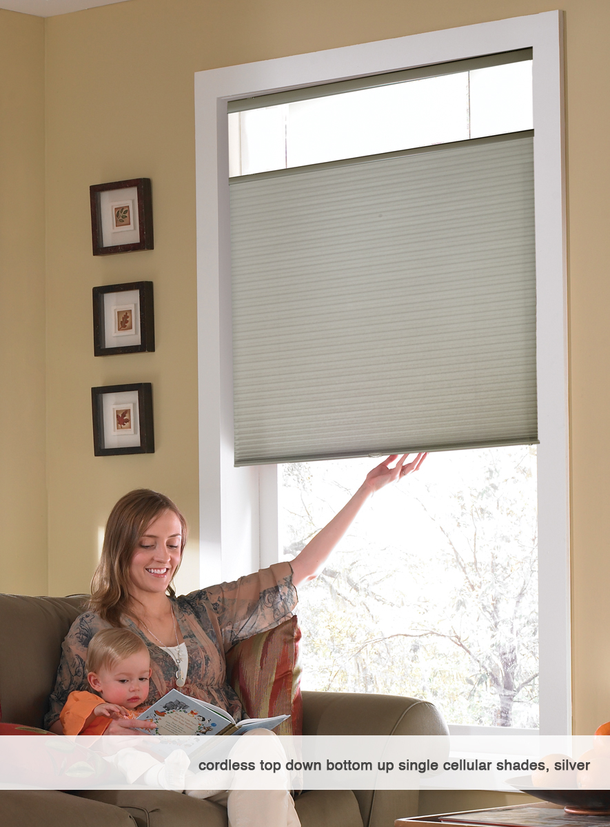 Cordless Top Down Bottom Up Cellular Honeycomb Shades 29