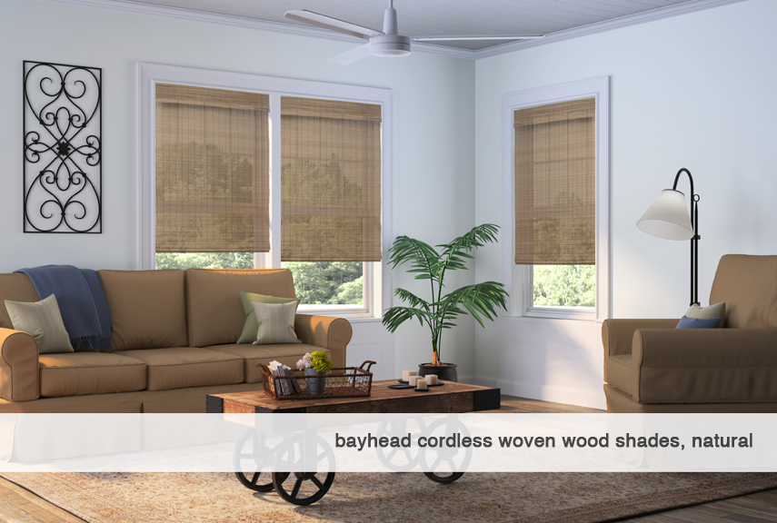 Bayhead-natural-Cordless Woven Wood