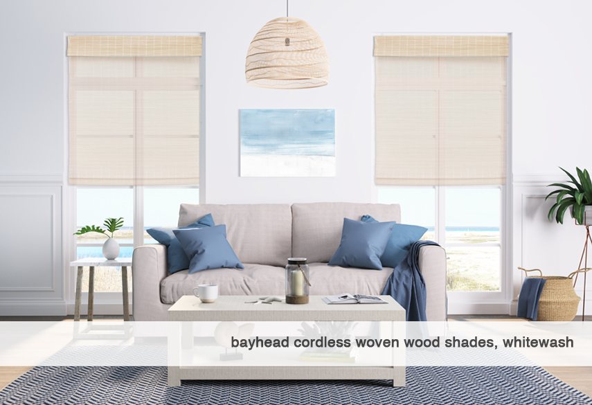 Bayhead-whitewash-Cordless Woven Wood