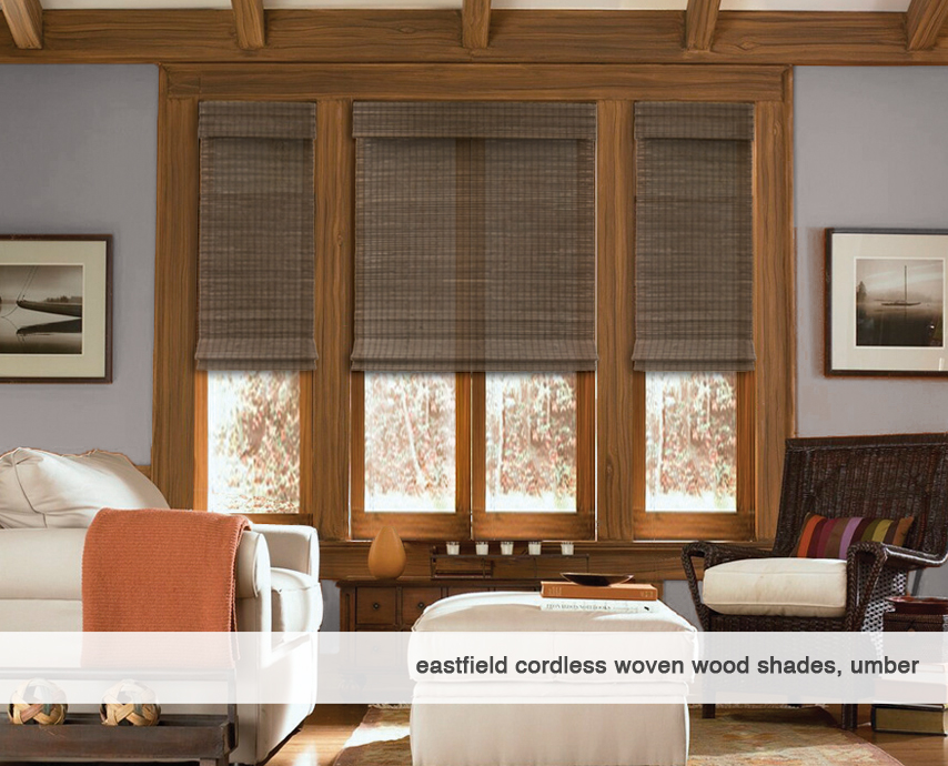 Eastfield-umber-Cordless Woven Wood