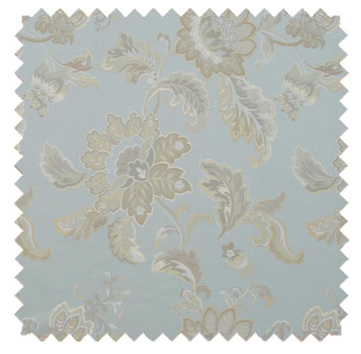 Camellia / Floral Brocade - Mist