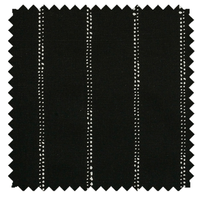 Carlo / Dot Stripe Print - Black