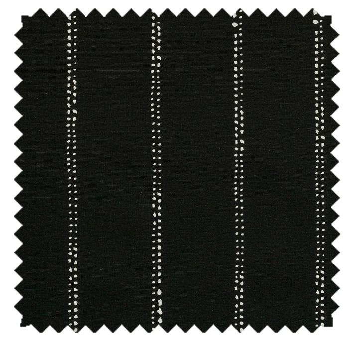 Carlo / Dot Stripe Print - Black