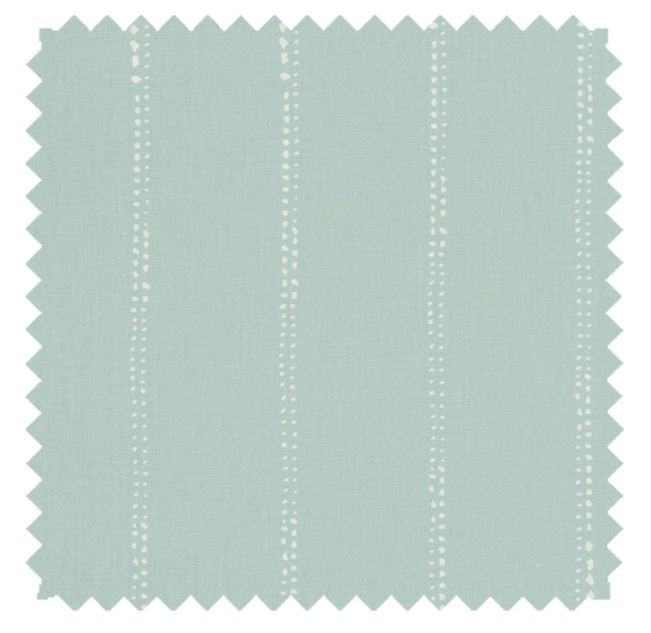 Carlo / Dot Stripe Print - Spa Blue