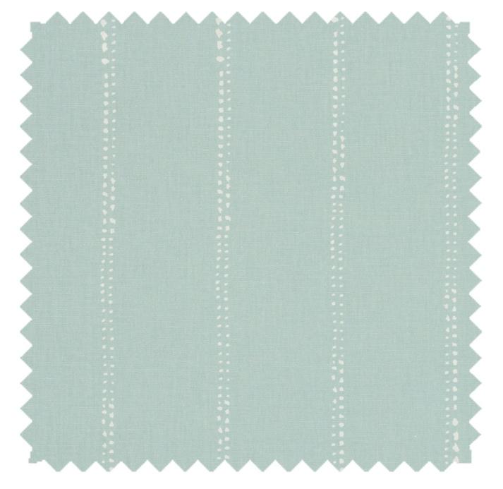 Carlo / Dot Stripe Print - Spa Blue