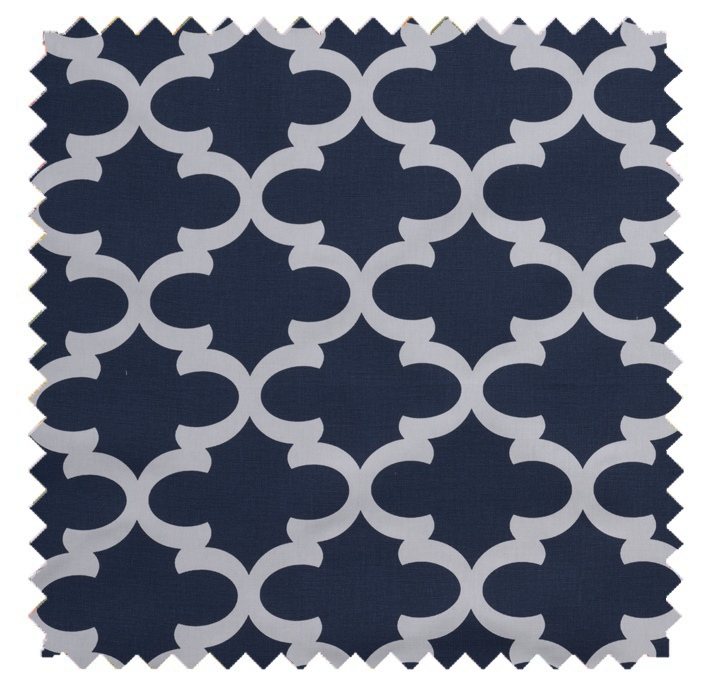 Fynn / Lattice Print - Blue