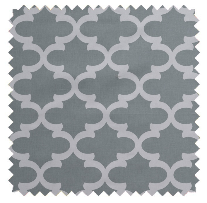 Fynn / Lattice Print - Cool Grey