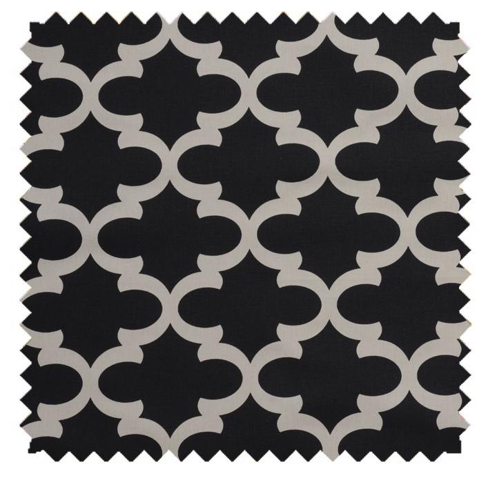 Fynn / Lattice Print - Onyx