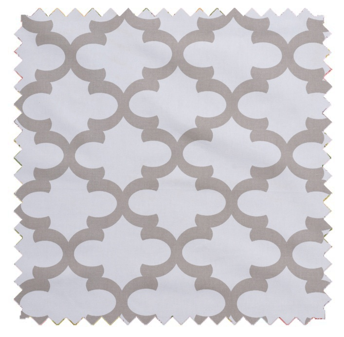 Fynn / Lattice Print - White