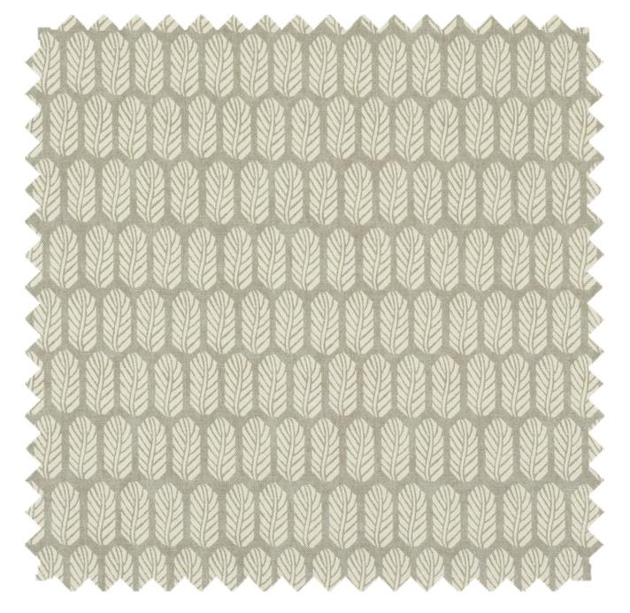 Quill / Leaf Print - Platinum