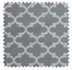 Fynn / Lattice Print - Cool Grey