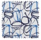 Vibrato / Scribble Print - Vivid Blue