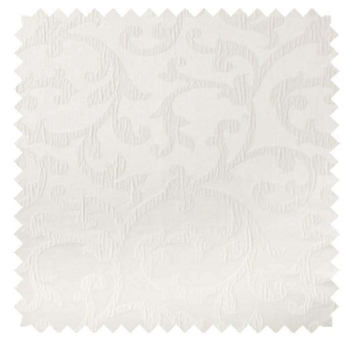 Bermuda / Plisse Scroll - White