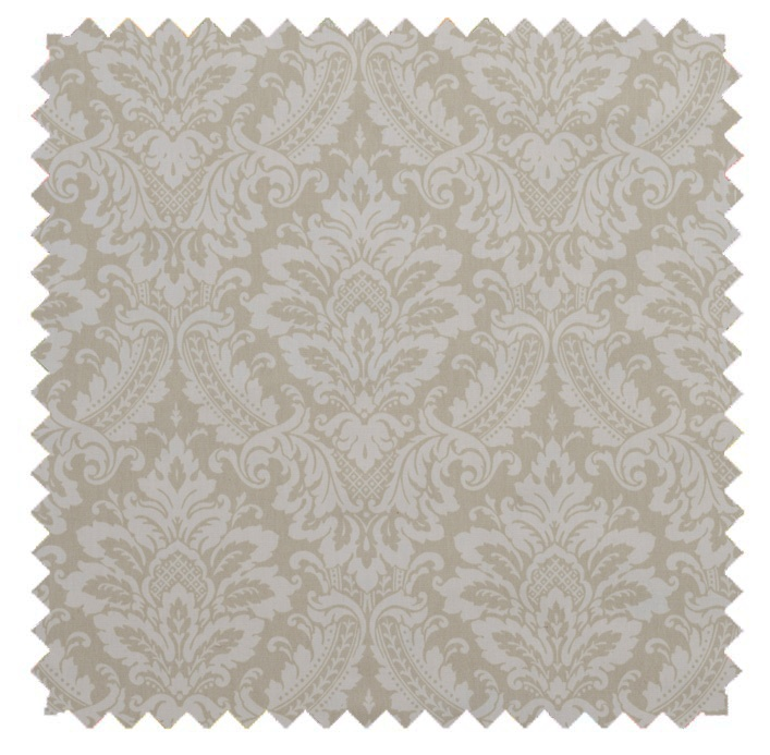 Donnington Damask / Ornate Print - Linen