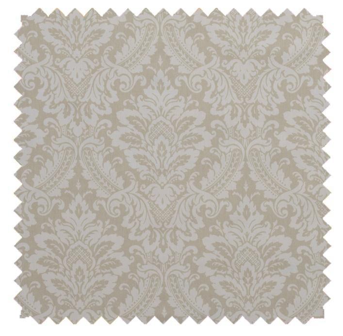 Donnington Damask / Ornate Print - Linen