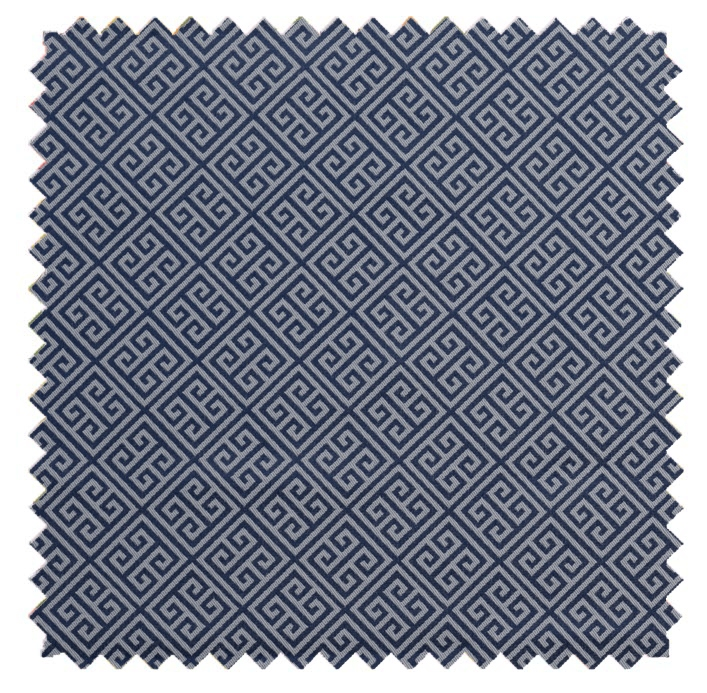Greek Key / Greek Key Jacquard - Navy/White