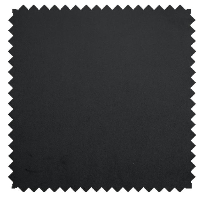 Plush Velvet / Knit-Backed Velvet-Black