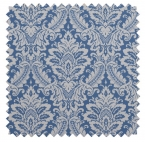 Donnington Damask / Ornate Print - Cornflower