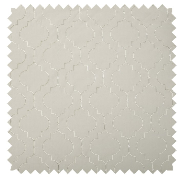 Helmsley / Lattice Embroidery - Pearl