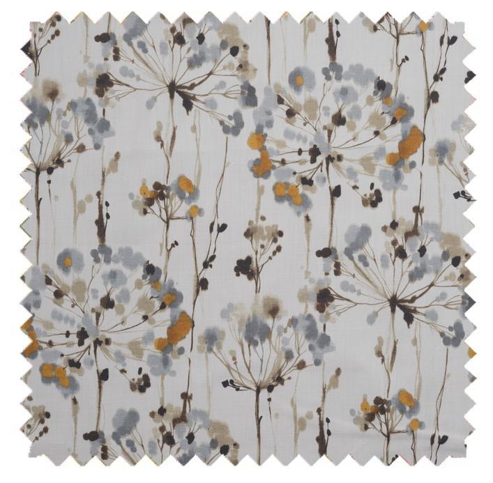 Dandelion / Painterly Floral Print - Slate