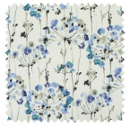 Dandelion / Painterly Floral Print - Blue