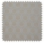 Hexagon / Metallic Geometric - Silver
