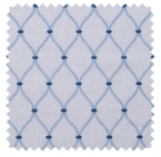 Genova / Ogee Embroidery - Marine