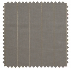Pinstripe Gent / Corded Linen Blend - Smoke / Ivory