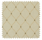 Engaging / Classic Trellis Embroidery- Ecru