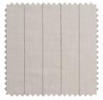 Pinstripe Gent / Corded Linen Blend - Vanilla / Mushroom