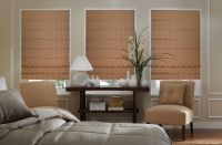 Plain Classic Pleated Roman Shades