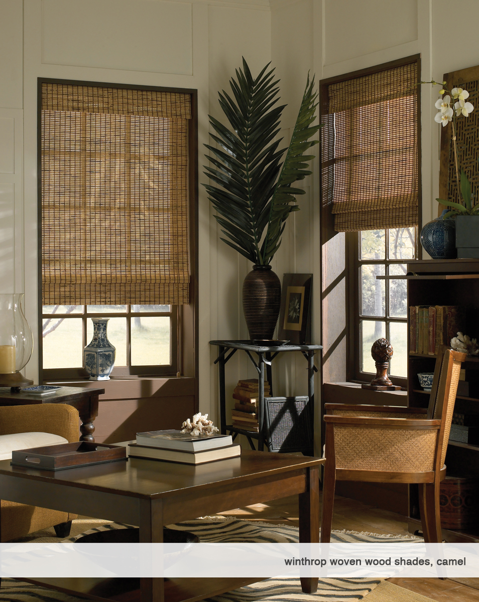 1-Winthrop Woven Wood Shade, camel